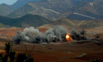 Ziemeļkoreja izmēģinājusi 16 tuvas darbības rādiusa raķetes