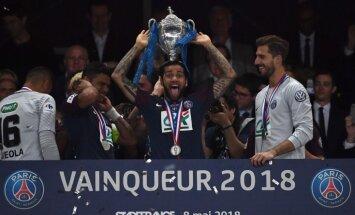 PSG finālā uzvar trešās līgas komandu un ceturto gadu pēc kārtas iegūst Francijas kausu