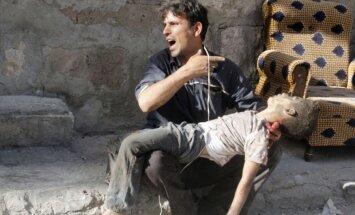 NVO: Krievijas uzlidojumos Sīrijā nogalināts 2371 cilvēks, trešā daļa-civiliedzīvotāji