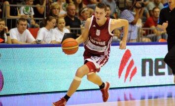 Latvijas vīriešu basketbola izlase pārbaudes spēlē izbraukumā piekāpjas Melnkalnei