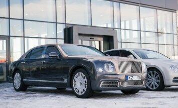 Foto: 'Bentley Rīgā' atklājis jauno autosalonu