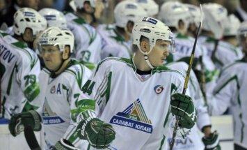 Kuldam rezultatīva piespēle 'Salavat Julajev' zaudējumā