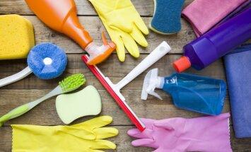 Seši tīrīšanas palīgrīki, kuriem jābūt uzkopšanas līdzekļu sarakstā
