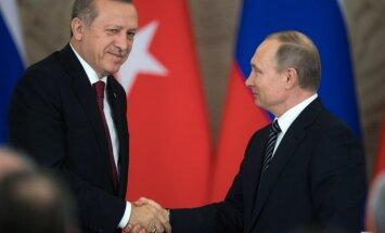 """Путин и Эрдоган обсудили """"очень эффективный контакт"""" спецслужб РФ и Турции в Сирии"""