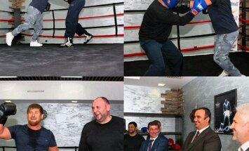 Čečenijas prezidents boksa ringā 'pārmāca' ministru