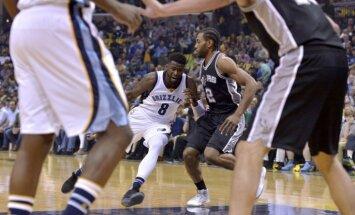 Bertānam trīs gūti punkti; 'Spurs' dramatiski zaudē izslēgšanas turnīra ceturtajā spēlē