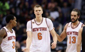Porziņģis un Ernangomess ir vienīgie, kuri var justies droši 'Knicks' sastāvā, raksta medijs