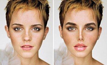 Kā izskatītos slavenas sievietes, ja 'uzlabotu' lūpas un degunu