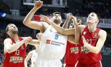 Strēlniekam lielisks sniegums un izšķirošie punkti 'Olympiakos' uzvarā pār 'Real'