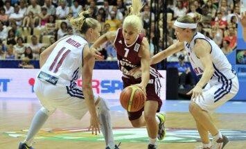 Latvijas basketbolistes piedzīvo otro zaudējumu EČ finālturnīrā