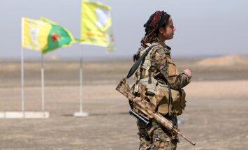 Karte: Kurdi lenc 'Daesh' kontrolētās pilsētas; džihādisti villojas savā starpā