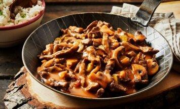 Stroganovs – no klasikas līdz improvizācijai: 5 receptes izcili gardām vakariņām