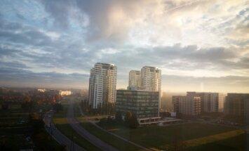 Saule laužas caur mākoņiem un TV tornis 'dūmo' – lasītāji tver rītu galvaspilsētā