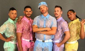 Новый тренд в мужской моде: кружевные рубашки и шортики