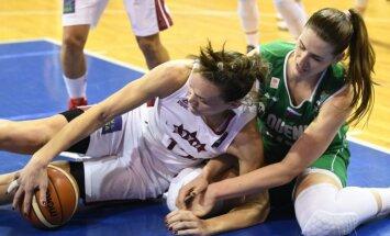 Latvijas basketbolistes pieveic Slovēniju un izcīna ceļazīmi uz EČ