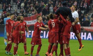 'Bayern' varonīgi atspēlējas un papildlaikā uzveic 'Juventus'; 'Barcelona' notur pārsvaru pār 'Arsenal'