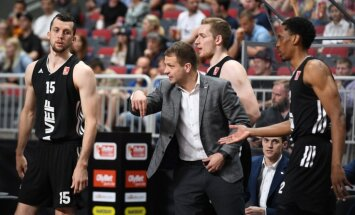 'VEF Rīga' un 'Ventspils' treneri dalās ar pārdomām pēc trešās LBL finālspēles