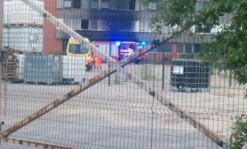 Aculiecinieka foto: Ugunsgrēks Uriekstes ielā Rīgā