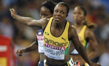 Jamaikiešu sprintere Kempbela-Brauna var izvairīties no ilgstošas diskvalifikācijas