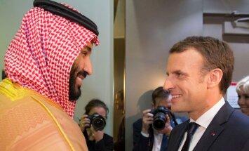Libānas krīze: Makrons negaidīti ierodas Saūda Arābijā