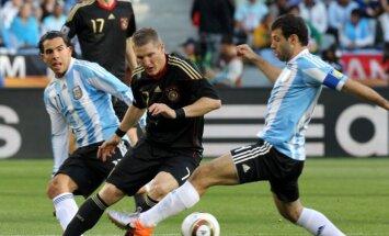 Vācijas un Argentīnas futbolisti noskaidro Pasaules kausa ieguvēju