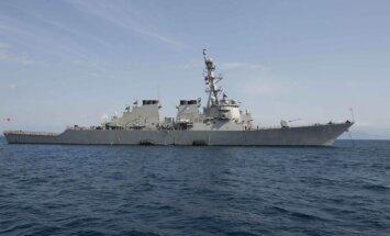 Rīgā ieradīsies Krievijas bumbvedēju pārlidojumu piedzīvojušais kuģis 'USS Donald Cook'