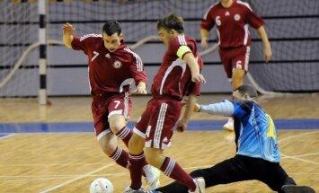 Latvijas telpu futbola izlase FIFA pasaules čempionāta atlasē pret Kipru, Angliju un Sanmarīno