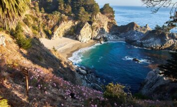 Dienas ceļojumu foto: Mirklis saules - Makveja ūdenskritums Kalifornijā