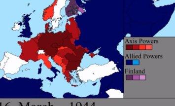 Video: Kā Eiropas karte mainījās katru Otrā pasaules kara dienu