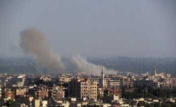 Raķetes sprādzienā pie Damaskas Starptautiskā gadatirgus seši bojāgājušie