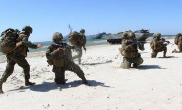 На Балтике начались военные учения Baltops c высадкой морского десанта
