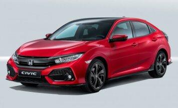 Jaunās paaudzes 'Honda Civic' pirmo reizi ieguvis turbomotorus