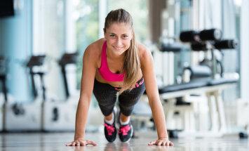 Divu nedēļu fitnesa izaicinājums: treniņš kājām, vēderpresei un rokām