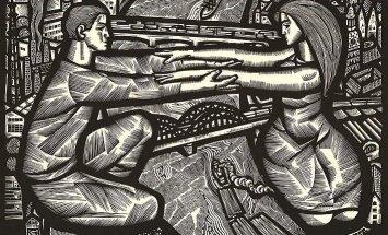 Atklās Gunāra Kroļļa grafikas darbu izstādi 'Kontrastviela'