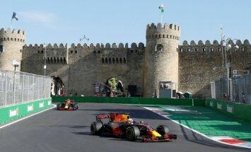 Verstapens ātrākais Azerbaidžānas 'Grand Prix' treniņbraucienu pirmajās divās sesijās