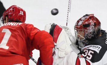 Video: Kanādas hokejisti atstāj olimpisko čempioni Krieviju bez medaļām