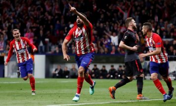 Madrides 'Atletico' un Marseļas 'Olympique' kļūst par UEFA Eiropas līgas finālistiem