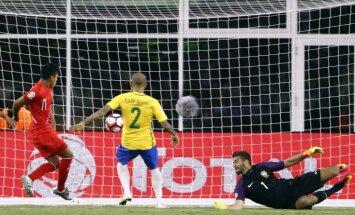 Brazīlijas izlase izstājas no 'Copa America' pēc Peru 'gola' ar roku
