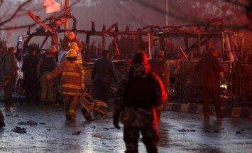 Sprādzienā pie Krievijas vēstniecības Kabulā nogalināti septiņi cilvēki