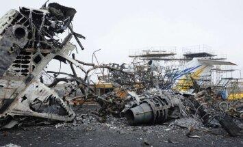 Doņeckas lidosta: no spilgta cerību stara līdz izdedzinātam karkasam