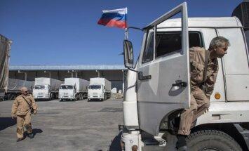 Uz Donbasu dodas jau 14. Krievijas 'humānās palīdzības' konvojs