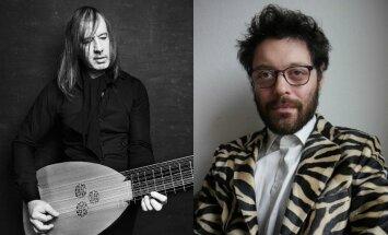 Kalnciema kvartāla brīvdabas koncertu sērijā - 'Only Lovers Left Alive' mūzikas autors Jozefs van Visems un Andrē Vida