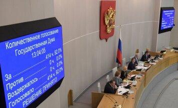 Krievijas deputāti atbalsta 'ārvalstu aģenta' statusa piemērošanu medijem