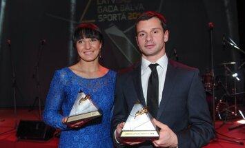 Martins Dukurs un Anastasija Grigorjeva otro gadu pēc kārtas atzīti par Latvijas labākajiem sportistiem