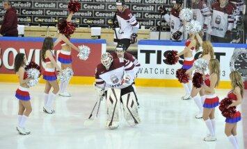 Latvijas hokeja izlasei nākamais svarīgais mačs - pret Austriju