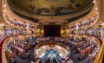Pasaules skaistākie grāmatu veikali - 'Harija Potera grāmatnīcas' prototips, grāmatu tirgotava senā baznīcā un citas