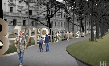 Arboristi kritizē 'Simtgades alejas' projektu Kronvalda parkā