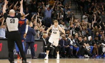 Bertānam trīs punkti svarīgā 'Spurs' uzvarā