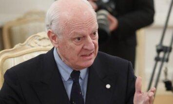 Sīrijas miera sarunas notiek 'izšķirošā brīdī,' uzsver ANO sūtnis