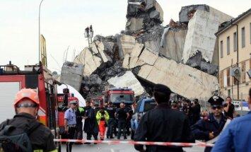 Traģēdija Itālijā: Dženovā sagruvis liels tilts